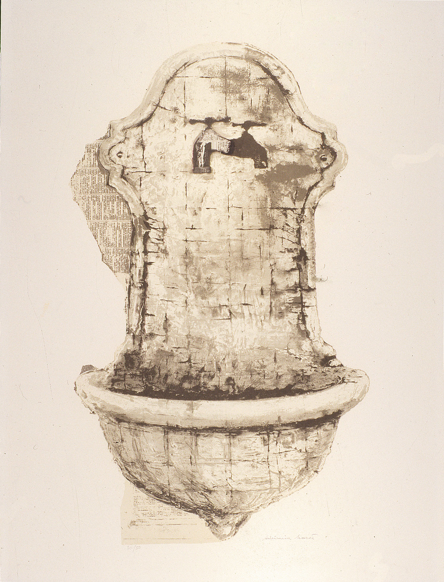 'The wash-basin' 1980, 80 x 60 cm, 10 col. Cat. n.460