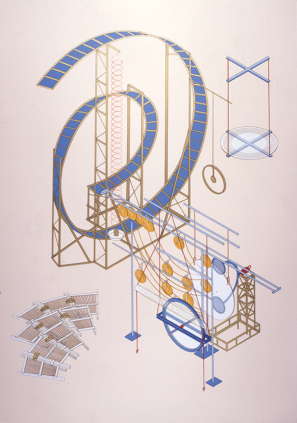 'From the series entitled the miraculating machine: hock suns and halos round the moon', 1991, 100 x 70 cm, 13 col. Cat. n.10